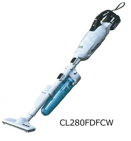 画像1: マキタ 18V充電式クリーナー CL280FDFCW (白)   ロック付サイクロンアタッチメント付 (1)